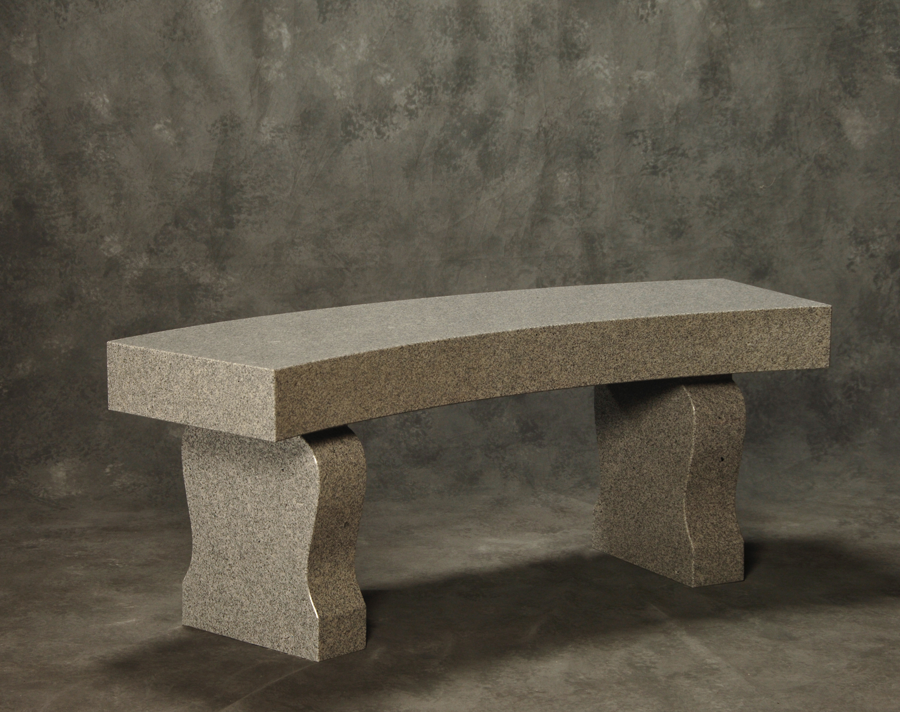 Roquemore Marble And Granite Curved Bench