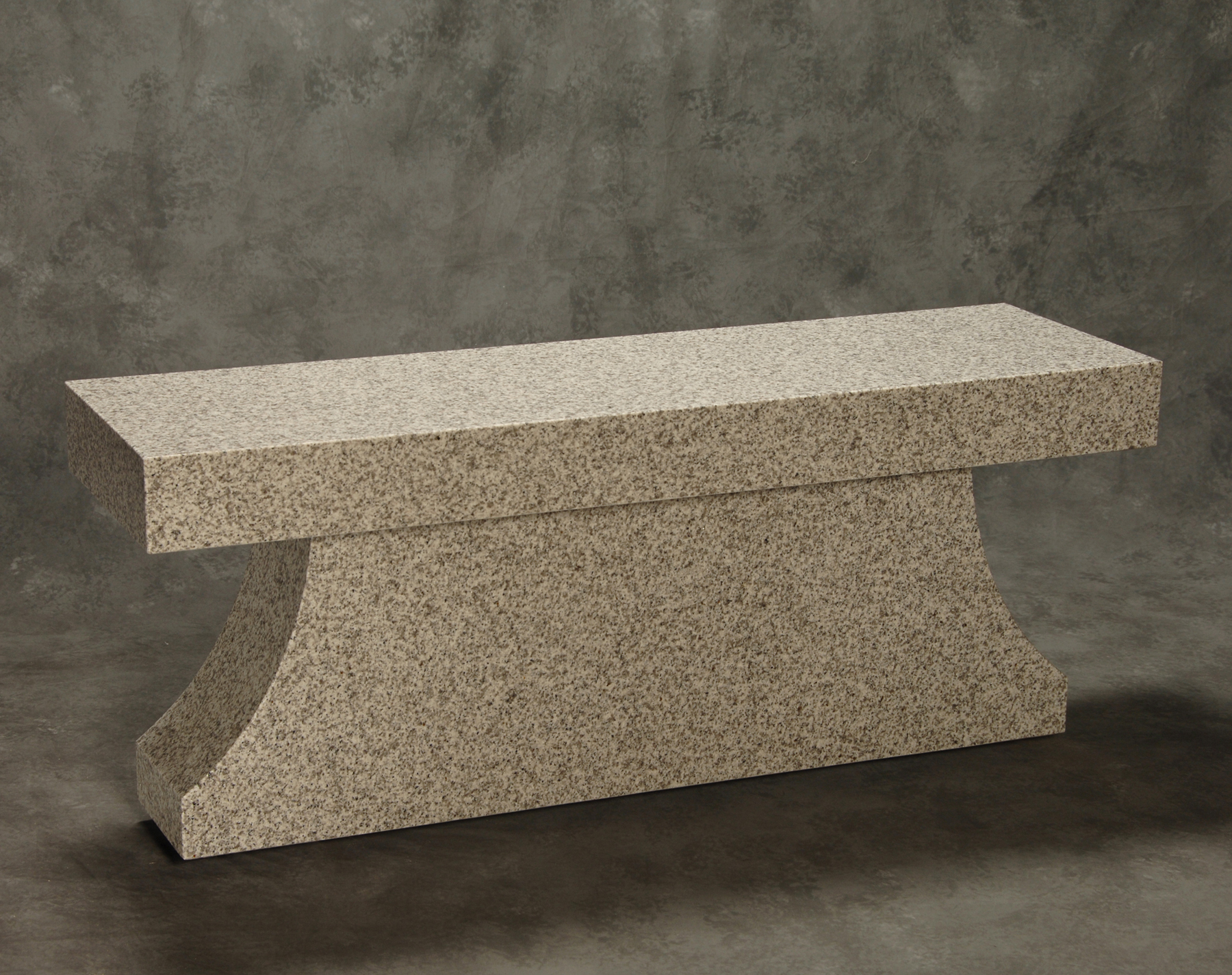 Roquemore Marble And Granite Pedestal Bench