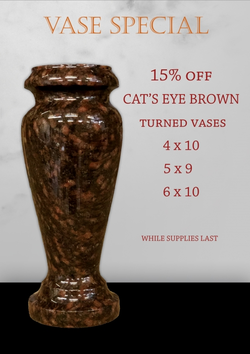 Cat's Eye Brown Turned Vase Special