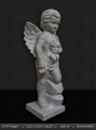 GS 47 - Grey Granite Angel with Flowers 18""