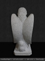 Grey Granite Kneeling Angel 12""