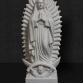 White Marble Our Lady of Guadalupe 24""