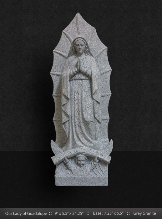 Grey Granite Our Lady of Guadalupe 24""