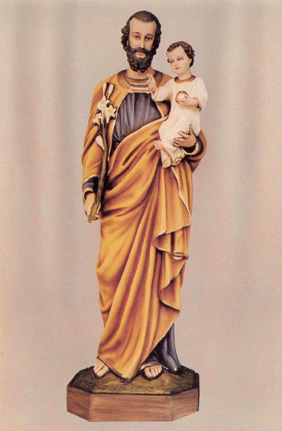 St Joseph Statue Statue St Joseph The Carpenter Vintage