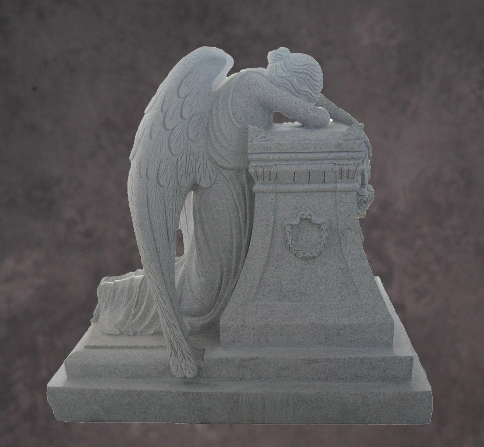 Delightful Granite Angel Statue. Weeping Angel