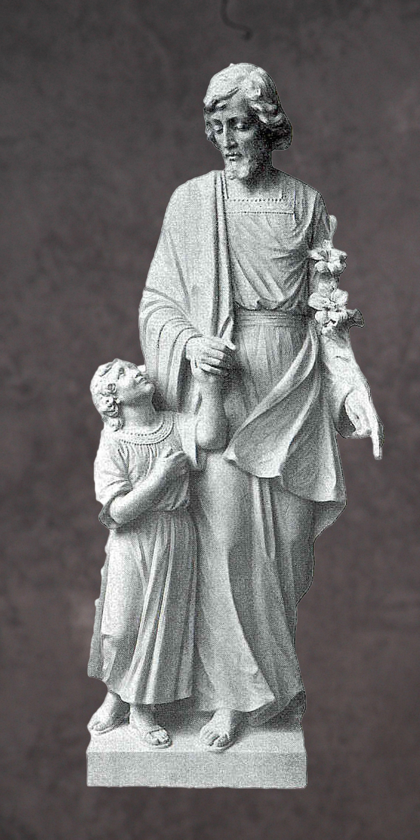 Italian Hand Carved Marble Saints Statues