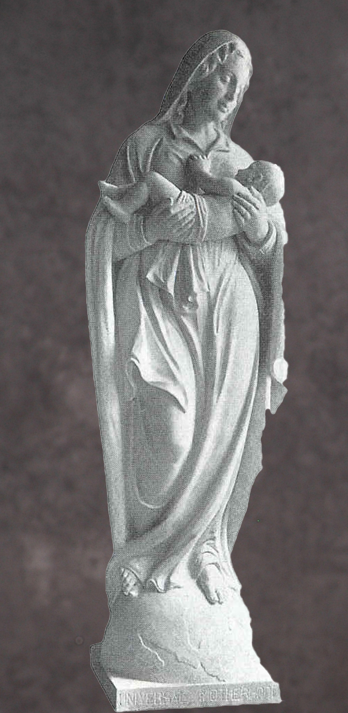 Italian Hand Carved Madonna Statues