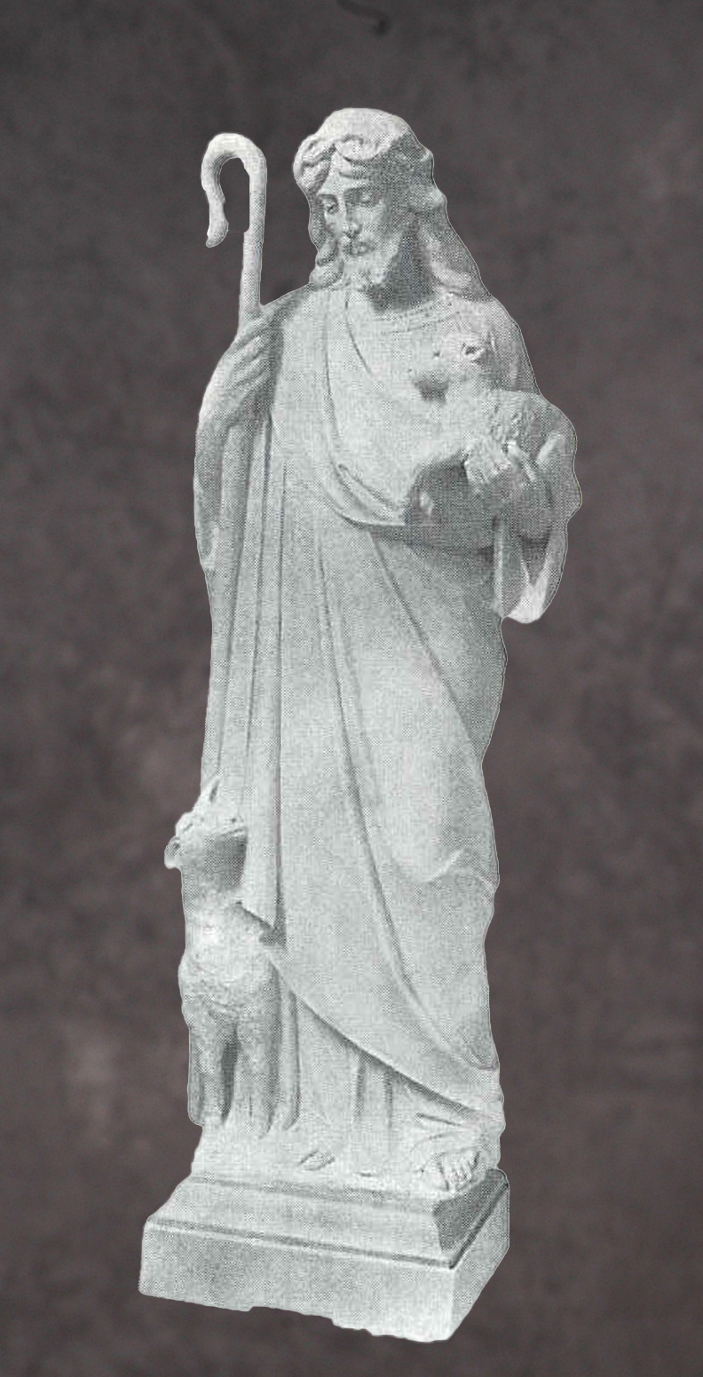 Italian Hand Carved Marble Christ Statues