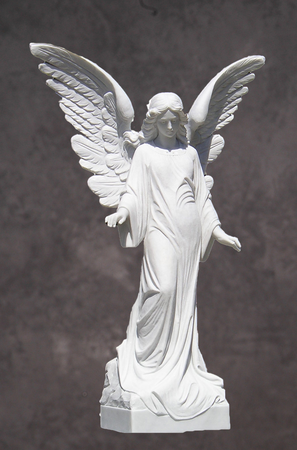 Italian Marble Angel Statue. Guardian Angel