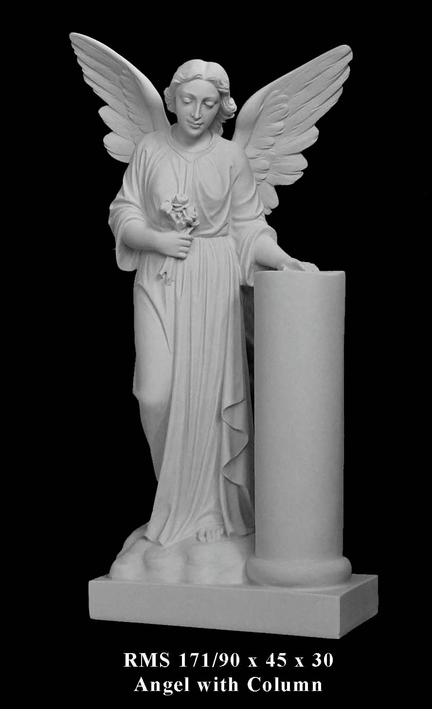 Bonded Marble Angel Statues