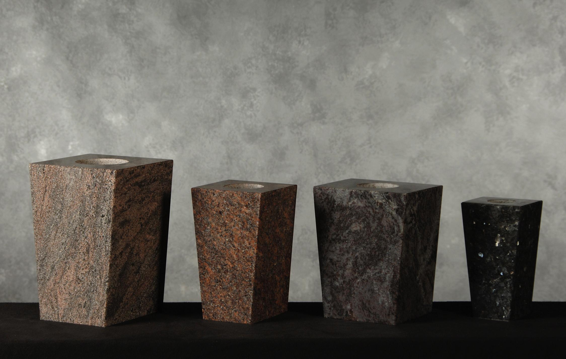 Roquemore Marble And Granite Granite Square Vases